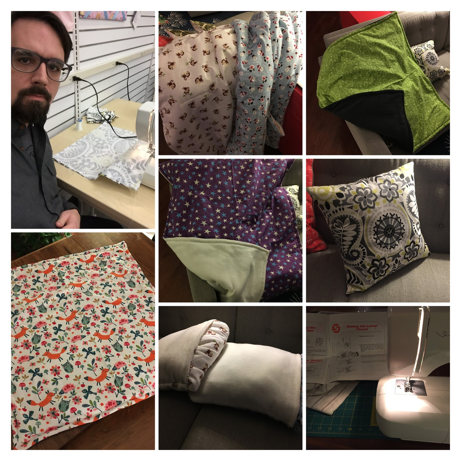 collage of sewing